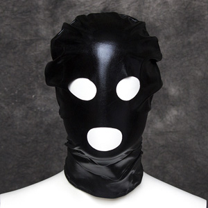Sexy lacquerless open mouthed hood SM mask